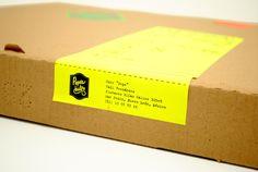 wrap around sticker on box