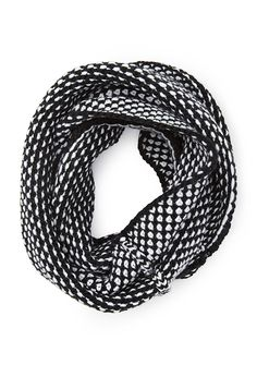 Forever21 infinity scarf black white