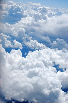 Glorious clouds against a crystal blue sky