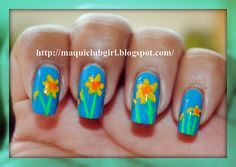 Daffodils manicura