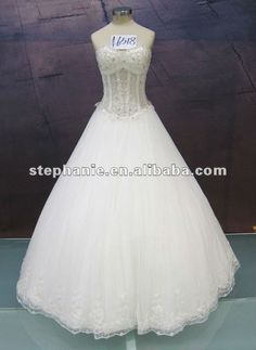 Wedding Dress 20121.Decorated with Lace;2. First-class Tulle;3.Custom size & color (white or ivory).