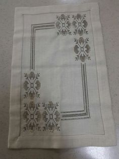 This Pin was discovered by nev White Embroidery, Cross Stitch Embroidery, Cross Stitch Borders, Weaving Patterns, Blackwork, Bargello, Embroidery Designs, Decoupage, Knitting