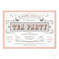 tea party invitations free template