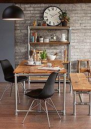 kodin ykkönen. industrial rustic table.