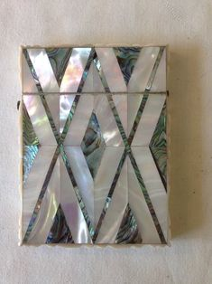 Antiques Atlas - 19th C Card Case,Mother Of Pearl & Abalone.