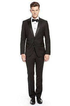 Howell/Glare' | Slim Fit, Super 150 Virgin Wool Peak Lapel Tuxedo