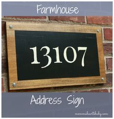 Add curb appeal and create your own farmhouse address sign!