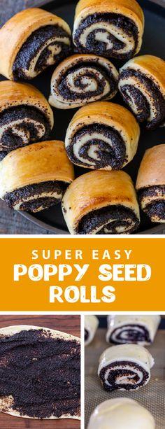 Easy No Bake Desserts, Delicious Desserts, Dessert Recipes, Poppyseed Roll Recipe, Ukrainian Recipes, Croatian Recipes, Hungarian Recipes, Poppy Seed Bread, Poppy Seed Cookies