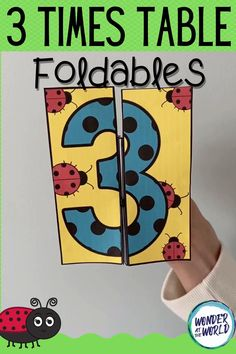 Inject some fun into multiplication with this foldable, ideal for math centers and interactive notebooks. There are 4 similar templates in this resource: Ladybug 3 times table template to color, cut and fold. Ladybug 3 times table template with missing numbers to color, cut and fold Pre-colored template to cut and fold. Pre-colored template to cut and fold. Creative Activities For Kids, Pre K Activities, Toddler Learning Activities, Montessori Activities, Kindergarten Activities, Preschool Activities, Garden Theme Classroom, Table Template, English Teaching Materials