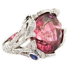 PIAGET Limelight Tourmaline Sapphire Diamond Cocktail Ring
