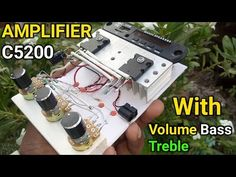 DIY Powerful Ultra Bass Audio Amplifier Using 2sc5200 With Heavy Bass Treble Volume & Mp3 Bluetooth - YouTube