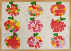 podzimní tvoření - jablíčka z vyražených koleček