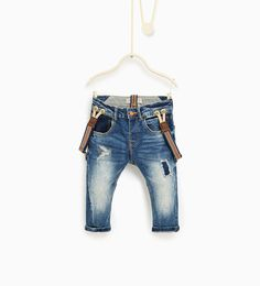 Jeans with braces-JEANS-Baby boy-Baby | 3 months - 3 years-KIDS | ZARA United States