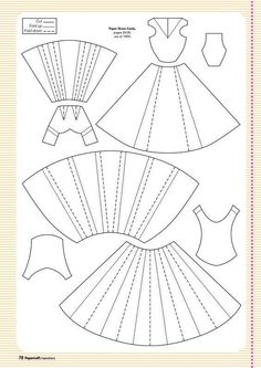 Paper Embroidery Ideas Template for paper dress More More - Here are all your free templates for the projects in issue including Jenny Hodges' 3d Templates, Scrapbook Templates, Scrapbook Cards, Scrapbooking Ideas, Clothing Templates, Card Templates Printable, Origami Vestidos, Diy Paper, Paper Crafts