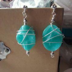 Earrings like the sea #handmade #diy