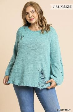 Dreaming of snow and a winter wonderland? This trendy sweater with rip and tear details will be the cutest this fall and winter season. Girls Boutique, Winter Season, Winter Wonderland, Seasons, Pullover, Detail, Cute, Sweaters, Collection