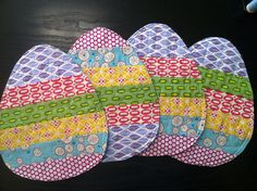 Easter egg mug rugs