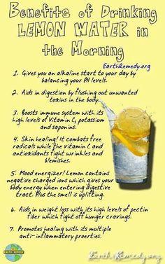 LOVE lemon water!!