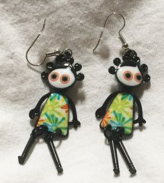 Hey, I found this really awesome Etsy listing at https://www.etsy.com/listing/477442529/french-green-doll-earrings-fun-moveable