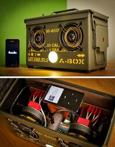 Pretty amaZing idea...ammo box conversion into a speaker case.