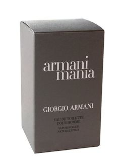 Mania By Giorgio Armani For Men. Eau De Toilette Spray 3.4 Ounces
