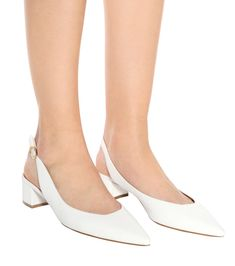 5eeca9da1 Mansur Gavriel - Leather slingback pumps | Mytheresa Slingback Pump, White  Pumps, White Leather