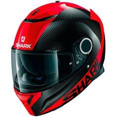 SHARK Spartan Carbon Red Helmet