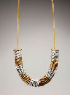 BEADED RINGS NECKLACE- yes please.