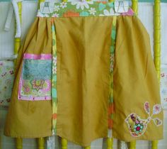 Birds of A Feather Vintage Apron - Upcycled