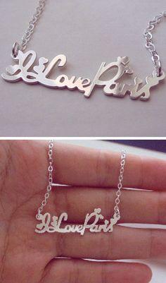 I Love Paris necklace #christmas #present #gift