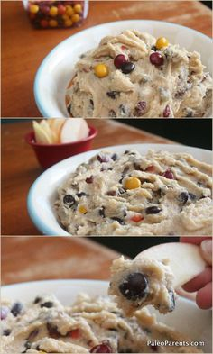 I was challenged to recreate this monsterous cookie dough dip. The result? A super sweet special treat (egg-free and vegan with nut-free options)! #gf #paleofriendly