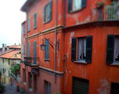 Italy Photography, Fine Art Photograph, Red Tuscan Villa, Italian Decor, Tuscany Travel Decor, Italian Art, Tuscan Wall Art Room With a View