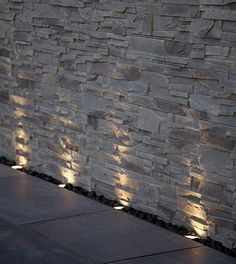 Outdoor Lighting Making a Feature of a Textured Wall ....