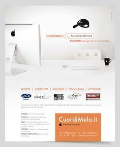 Campagna stampa servizio store Apple CuordiMela #adv #advertising #CuordiMela #Apple