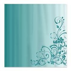 Background Pretty Elegant Design | Elegant shower curtains featuring a blue floral ... | Shower Curtains