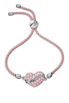 Pink Heart Drawstring Bracelet | Brandsfever