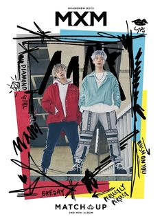 """MXM has released the jacket images for their upcoming mini-album """"Match Up"""" which is scheduled to be released on January Jacket Images, Aesthetic Painting, Kpop, Mix Match, New Music, Mini Albums, Boy Groups, Brand New, Actors"""