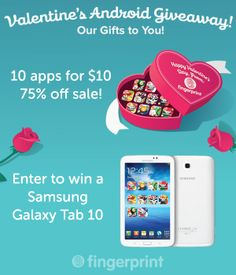 Can you feel the love? @Fingerprint is giving away a new Samsung Galaxy Tab as part of their Valentine's #Giveaway!