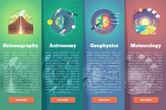 Education and science banners set by painterr on @creativemarket