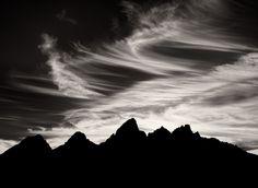 the grand tetons silhouette