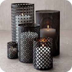 Candle screens....make from radiator sheets