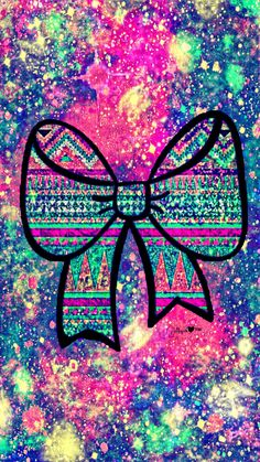 Tribal Bow Galaxy Wallpaper #androidwallpaper #iphonewallpaper #wallpaper #galaxy #sparkle #glitter #lockscreen #pretty #pink #cute #girly #bow #bling #pattern #art #colorful