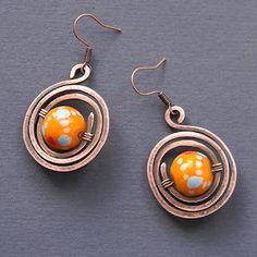 "Серьги ""Яркая этника"" / copper earrings"