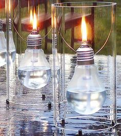 Light Bulb Oil Lamps