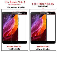 Full Coverage Screen Protector For Xiaomi Redmi Note 4X Tempered Glass for Xiaomi Redmi Note 4 Pro Global Version  Price: 2.19 USD