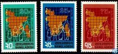 Postzegels - Bangladesh [BGD] - 1e Anniv van Onafhankelijkheid