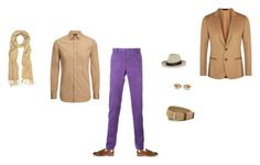 """""""Cream , brown and prurple"""" by coolmode on Polyvore featuring Etro, Paul Smith, Joseph, Barbisio, Oliver Peoples, TailorByrd, men's fashion et menswear"""