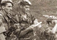 Young commandos of french 1er RTA (Light Algerian Infantry Regiment) in the mountains of Kabylie, 1959.