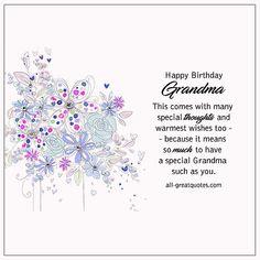 Happy Birthday Grandma Free Birthday Cards For Grandmother Happy Birthday Grandma Quotes, Birthday Quotes Bff, Birthday Msgs, Birthday Wishes For Boyfriend, Birthday Card Sayings, Free Birthday Card, Homemade Birthday Cards, Birthday Cards For Mom, Funny Birthday Cards