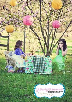 tea party with chinese lanterns